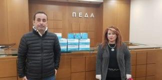 O Πρόεδρος της ΠΕΔΑ, Γιώργος Μαρκόπουλος και η Δήμαρχος Ν. Ιωνίας Δέσποινα Θωμαΐδου