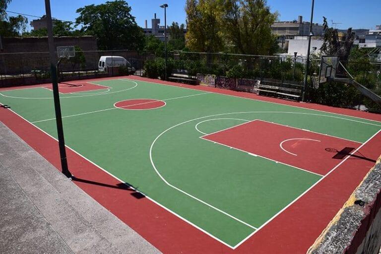 Ανακατασκευή του γηπέδου μπάσκετ στην πλατεία Μακελαράκη στον Περισσό