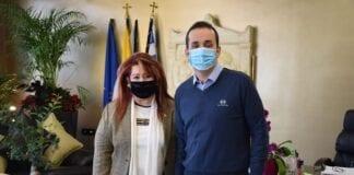 Η Δήμαρχος Νέας Ιωνίας Δέσποινα Θωμαΐδου και ο Πρόεδρος της ΠΕΔΑ Αττικής και Δήμαρχος Γαλατσίου Γιώργος Μαρκόπουλος