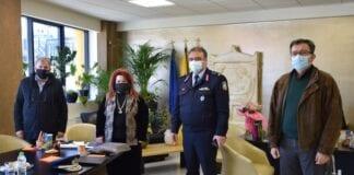 Η Δήμαρχος Νέας Ιωνίας Δέσποινα Θωμαΐδου σε συνάντηση με τα τοπικά σώματα ασφαλείας