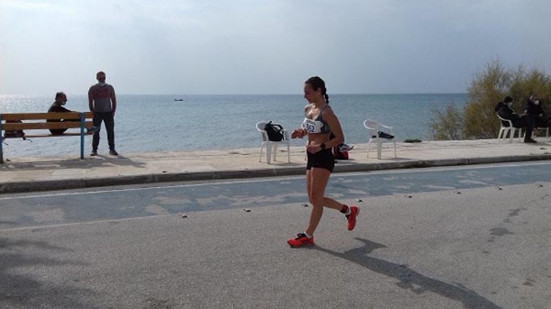 """Η Κυριακή Φιλτισάκου, αθλήτρια της """"Ανατολής Νέας Ιωνίας"""", στο Πανελλήνιο Πρωτάθλημα Βάδην"""